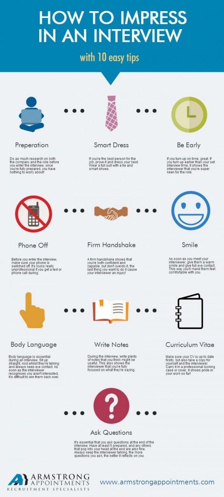 10 tips om indruk te maken op de interviewer